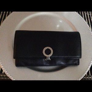 Authentic Bvlgari Leather Long Bi-Fold Wallet
